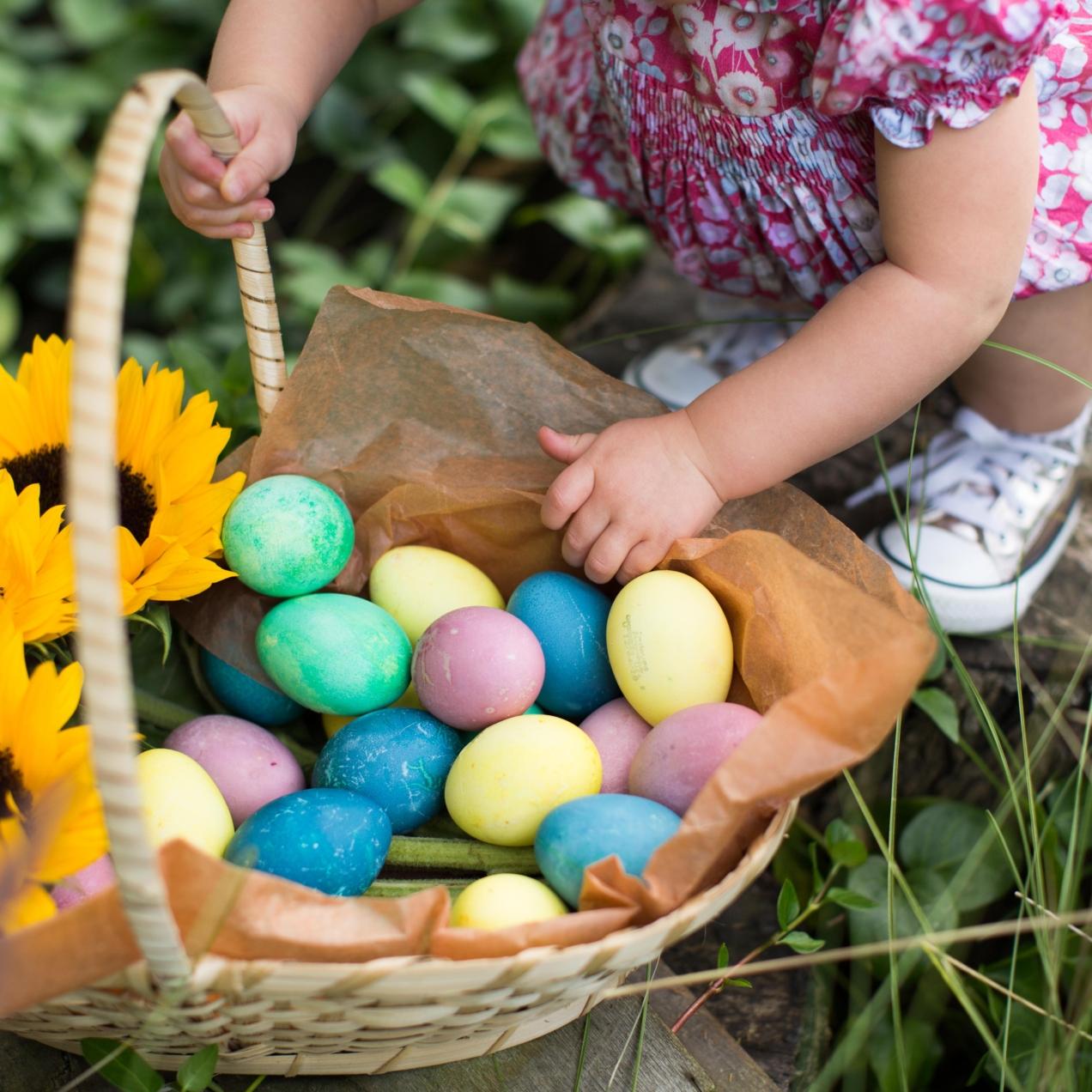 Huevos de pascua naturales