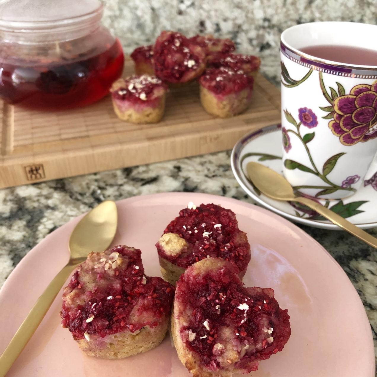 Muffins de Frambuesa Saludables