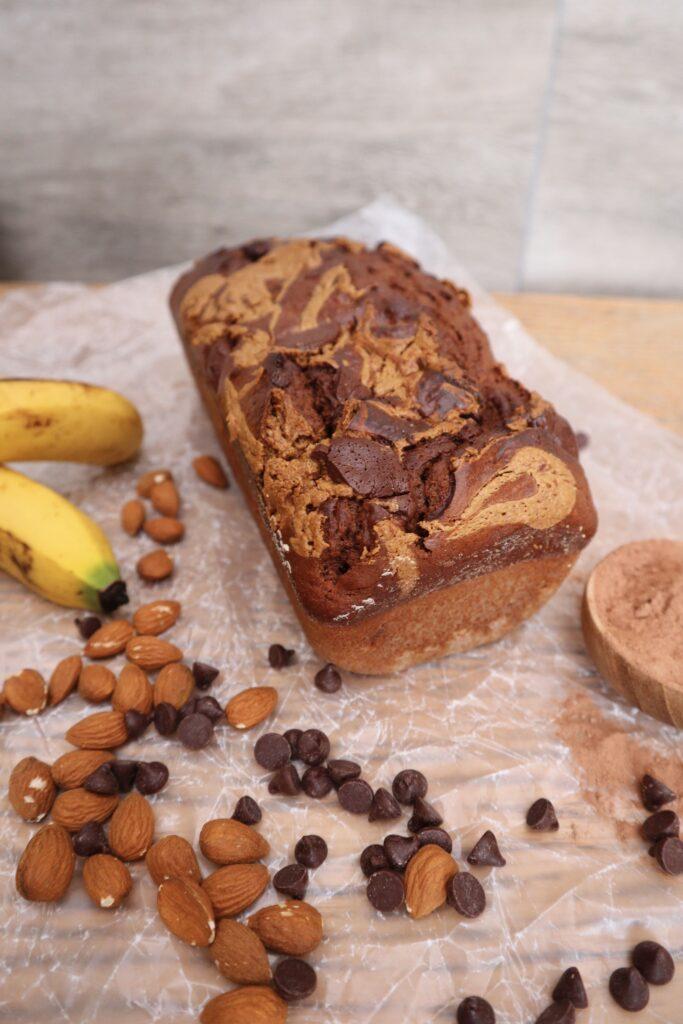 pan de banana de chocolate casero, chocolate banana bread
